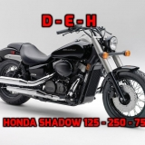 HONDA SHADOW 125 - 250 - 750